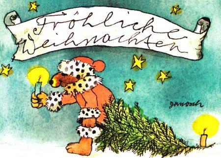 Janosch WeihnachtsPOSTkarte Bärige Weihnachtsgrüße