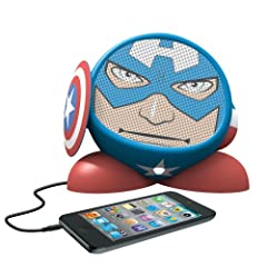 eKids Marvel Avengers Captain America Rechargeable Character Speaker, by iHome  - MC-M662