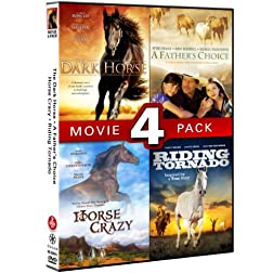 Horse Movie 4 Pack (Dark Horse, Father's Choice, Horse Crazy, Riding Tornado)