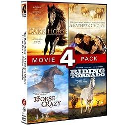 Horse Movie 4 Pack (Dark Horse, Father's Choice, Horse Crazy, Riding Tornado)