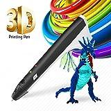 3D Pen Kids Drawing Doodling 3D Printing Pen Pencil Printer Intelligent PCL PLA Filament Refills Best Gift for Teens and Childs,Black Color (Color: US-M1-Black)