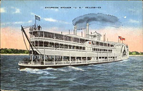 Excursion Steamer H. S. De-Luxe - X3 Boats Ships Original Vintage Postcard