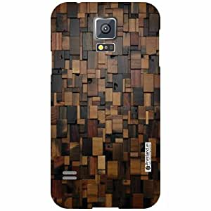 Printland Samsung Galaxy S5 Back Cover - Wood Art Designer Back Cases