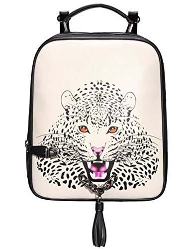 BEIER discount duty free BEIER® SB9 Leopard Head Personality Chain bag Tassel Shoulders Backpack