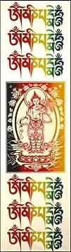 Avalokiteshvara and Mantra Cloth Print
