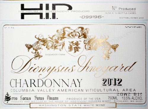 2012 House Of Independent Producers Chardonnay 750 Ml