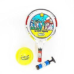 Cet ensemble comprend 1 raquette de  43 cm d'une grande qualité de fabrication et l'extraordinaire balle gonflable « Ma Première Balle de Tennis » de 15cm (6 inches) si réputée et produite par Le Petit Tennis (LPT).   Avec ce pack, votre enfant de 5 ...