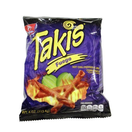 Barcel Chips Takis Fuego 4 Oz Bag by N/A
