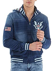 U.S.Polo.Assn. Men's Cotton Sweatshirt (8907259139098_USSS0503_S _Indigo Medium)