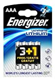 Energizer Lithium AAA Battery 1250mAh x4