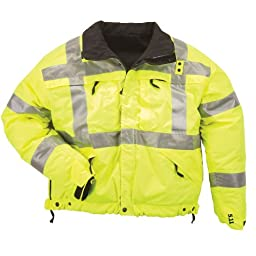 5.11 Tactical #48037 High-Visibility Reversible Jacket (Reflective Yellow, 4X-Large)