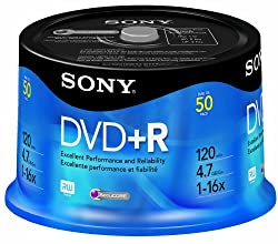 Sony DPR-47/50 Write-once DVD+R Disc - Spindle