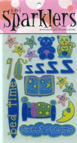s-e-i Sparklers Dimensional Glass-Beaded Stickers