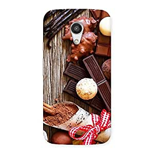 Stylish Chocolate Candies Multicolor Back Case Cover for Moto G 2nd Gen
