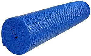 """Extra Long (84"""") Deluxe 1/4 Inch Thick Yoga Mat - Black"""