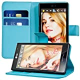 Kwmobile® Elegant leather case for the LG Optimus L9 P760 with magnetic fastener and stand function in Blue
