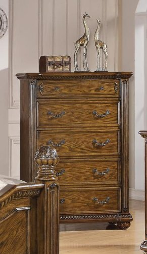 Bartole Traditional Oak Finish Chest Of Drawers back-933840