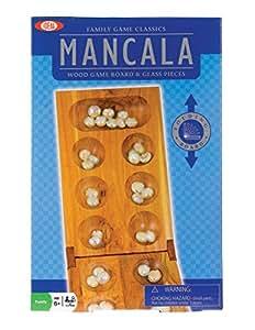 Poof-Slinky 0X5360 Id-al classique Mancala jeu de plateau avec plateau de jeu pliant en bois et gibier glace Pieces