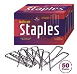 50 Landscape Fabric Staples 11 Gauge Steel used as Garden Staples, Sod Staples, Garden Spikes, Fence Anchors, Anchor Pins, Loop Stakes- Professional Grade - Full 6