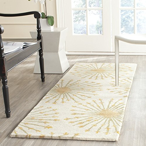 Safavieh Bella Collection BEL123A Handmade Beige and Gold Wool Area Runner, 2 feet 3 inches by 7 feet (2'3