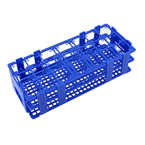 Test tube Rack - TOOGOO(R) Blue Plastic 21 Holes Box Rack Holder for 50ML Centrifuge Tubes (Industrial Centrifuge compare prices)