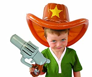 Bluw Inc Inflatable Cowboy Hat And Gun