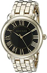 Anne Klein Women's AK/1926BKGB Analog Display Japanese Quartz Gold Watch