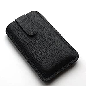 Chalk Factory Genuine Leather Case for Gionee Pioneer P2 Mobile Phone (#LP, Black)