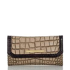 Soft Checkbook Wallet<br>Taupe Sienna