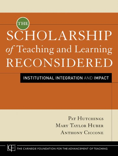 The Scholarship of Teaching and Learning Reconsidered:...