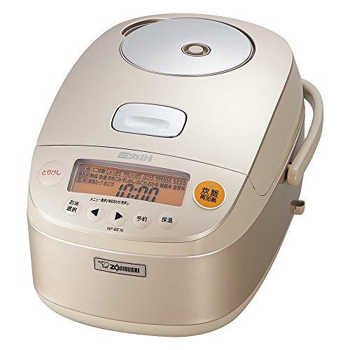 象印 圧力IH炊飯器 鉄器コートプラチナ厚釜 5.5合 シャンパンゴールド NP-BE10-NZ