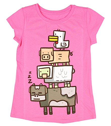 Minecraft Girls' Animal Totem Girls' Youth T-shirt (Medium (7/8))
