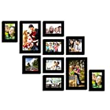 Varying Black Photo frame collection - Set of 10 individual photo frames
