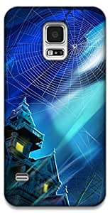 The Racoon Grip haunted house hard plastic printed back case / cover for Samsung Galaxy S5