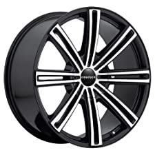 Cruiser Alloy Obsession 16 Machined Black Wheel / Rim 5×4.25 & 5×4.5 with a 38mm Offset and a 73 Hub Bore. Partnumber 916MB-6751438