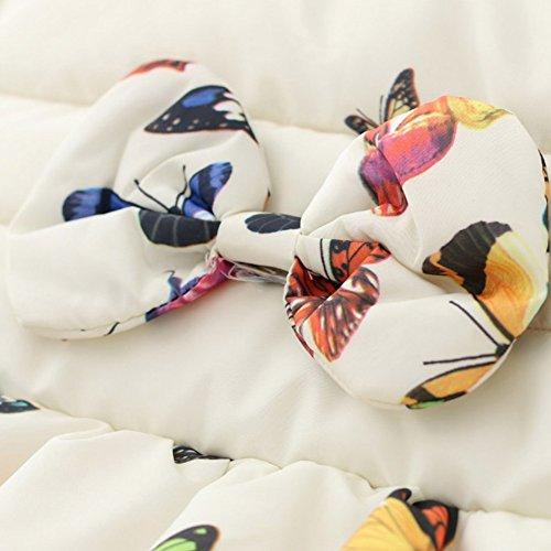 BOBORA Baby Girl Butterfly Pattern Coat Winter Warm Hoodie Down Jacket Outwear