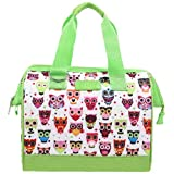 Sachi Fun Prints Insulated Lunch Tote, Style 34-258, Owls
