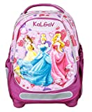 Official Disney Princesses School Bag Backpack by KalGav Orthopedic Light Purple 92047