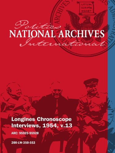 Longines Chronoscope Interviews, 1954, v.13: LEONARD HALL movie