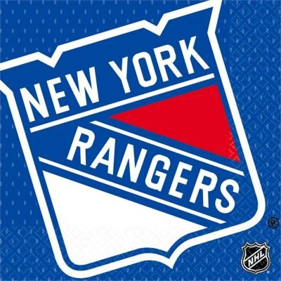 New York Rangers Napkins 2ply 16count NY rangers