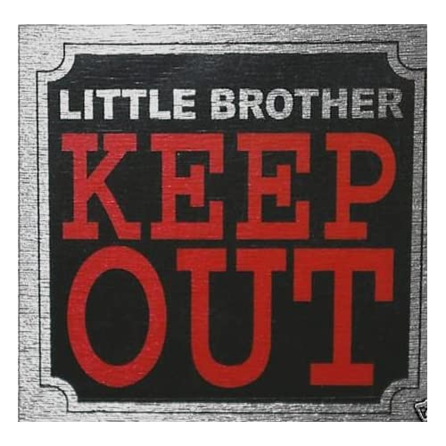 fun door signs 8cm x 8cm bedroom signs little brother keep out