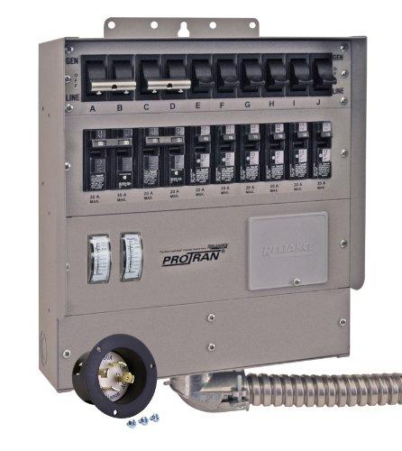 Reliance Controls Q310A 10-Ciruit Transfer Switch, 125/250-Volt