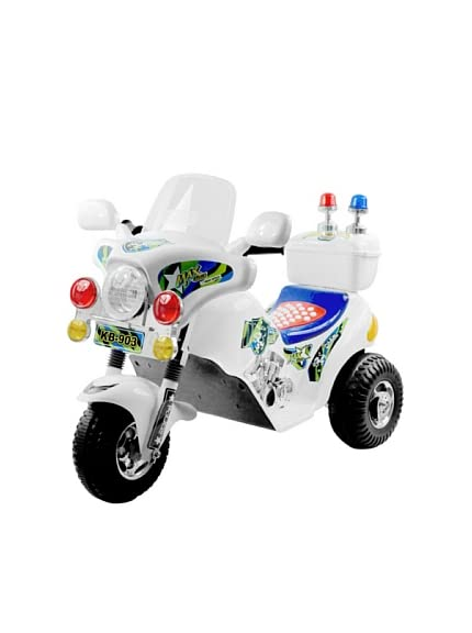 EZ Riders Police Motorcycle Battery Operated - White