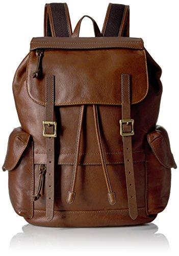 Fossil Defender Leather Rucksack Backpack, Brown