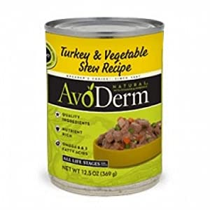Avoderm Natural Turkey & Vegetable Stew Formula Dog Food (12x12.5Oz)