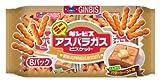 ギンビス ミニアスパラガスこんがりバタートースト味6P 162g×12袋