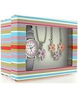 Montre, Pendentif et Bracelet à Fleurs de The Olivia Collection. Set Cadeau KS001