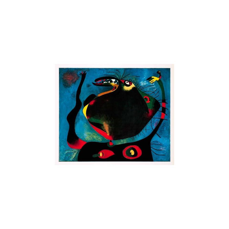 1967 Print Joan Miro Woman Head Expressionism Abstract Modern Art Oil Painting   Original Color Print