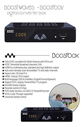 Roku Box Canada: BoostWaves® Digital Converter Box DVR, 1080P HDTV, HDMI