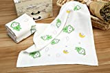 "3 ULTRA SOFT Baby Bath Washcloths, 100% Natural Bamboo Towels, No-Dyes, Perfect Gift for Sensitive Baby Skin,3 Pack 12""*12"""